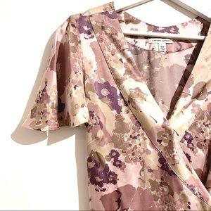 BANANA REPUBLIC Kimono Style Wrap Belted Silk Top Blouse